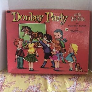 Vintage Wittman donkey party with tails 1950s